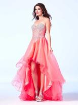 Cassandra Stone - 61691 Dress in Neon Coral
