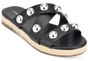 Marc Fisher Prisca Ball-Studded Espadrille Sandals Women's Shoes