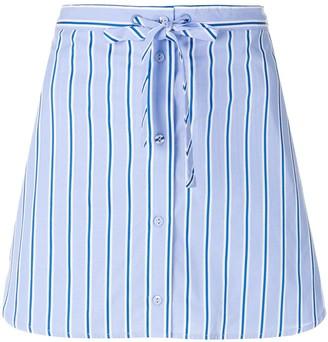 Victoria Victoria Beckham Striped Mini Skirt