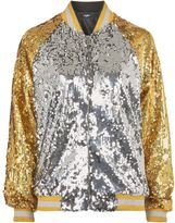 Jaded London **Gold and Silver Bomber Jacket