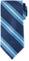 Peter Millar Striped Silk Tie, Navy