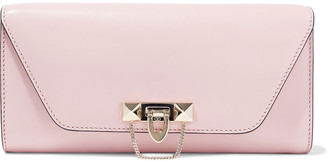 Valentino Demilune Studded Leather Clutch