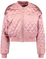 Missguided BARBIE QUILTED RING PULL Bomber Jacket pink