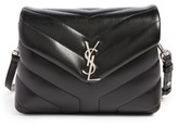 Saint Laurent Toy Loulou Calfskin Leather Crossbody Bag - Black