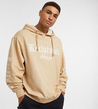 Reclaimed Vintage inspired overdye hoodie co-ord in stone