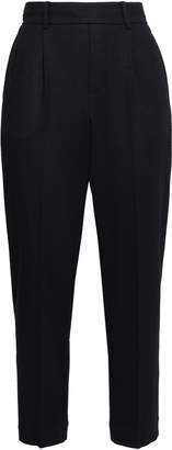 Vince Cropped Stretch-wool Jersey Tapered Pants