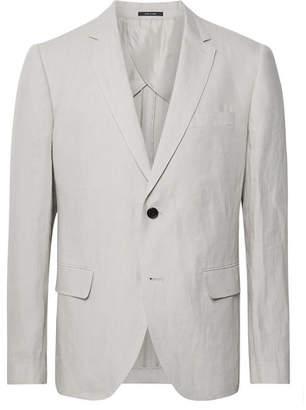 Club Monaco Grant Light-Grey Slim-Fit Linen Suit Jacket