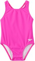 Speedo Girls' Solid Racerback One Piece with Snap Bottom (12mos3T) - 8137135