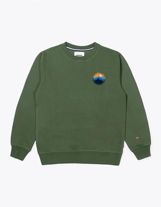 Wemoto Light Olive Mountain Crew Sweater - S | olive - Olive