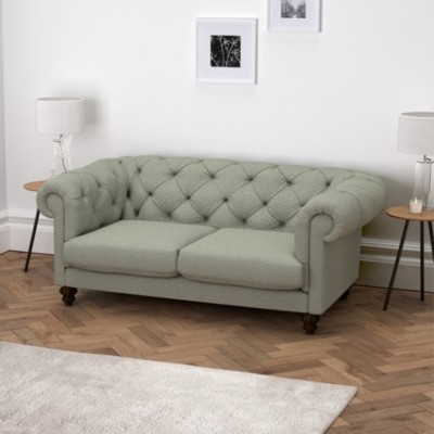 The White Company Hampstead 2 Seater Sofa Wool, Light Grey Wool, One Size