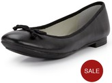 Clarks Carousel Ride Ballerina Shoes - Black Leather