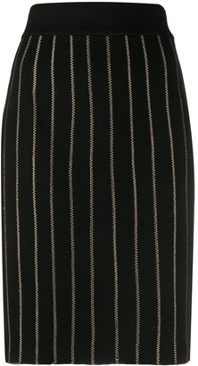 Fendi Pre Owned 2000s Pinstripe Pencil Skirt