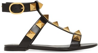 Valentino 10mm Roman Stud Leather Sandals