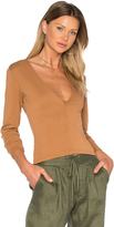 MinkPink Brushed Modal Deep V Top