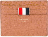 Thom Browne striped detail cardholder - men - Leather - One Size