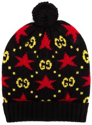 Gucci GG Stars Knit Beanie