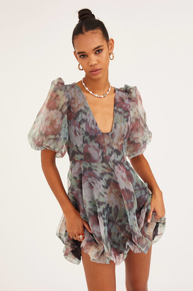 Urban Outfitters Floral Bubble Mini Dress