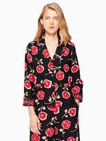 Kate Spade Hazy rose crepe shirt