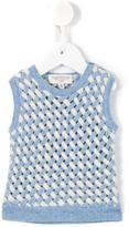 Cashmirino - Lattice knit tank top - kids - Cashmere - 3 mth