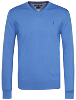Tommy Hilfiger Premium Cotton V-neck Jumper, Regatta