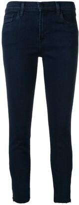 J Brand Frayed Hem Skinny Jeans