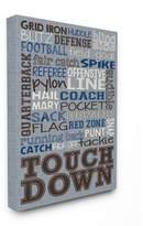 Stupell Industries Football Typog Denim Feel Oversized Stretched Canvas Wall Art