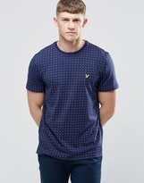 Lyle & Scott T-Shirt With Square Dot Print In Navy