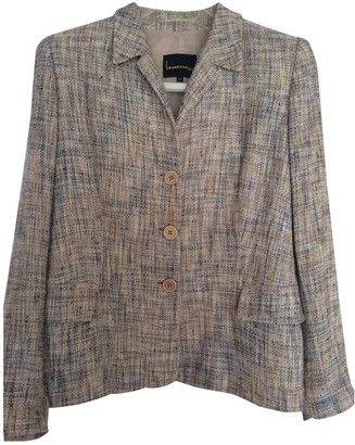Non Signé / Unsigned Non Signe / Unsigned Epaulettes Grey Jacket for Women