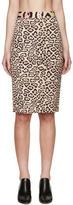Givenchy Beige and Pink Jaguar Skirt