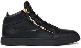 Giuseppe Zanotti Zip-detailed Leather High-top Sneakers