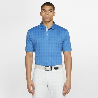 Nike Men's Plaid Golf Polo Dri-FIT Player