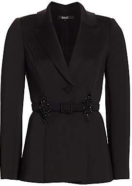 Badgley Mischka Women's Embellished Belt Blazer