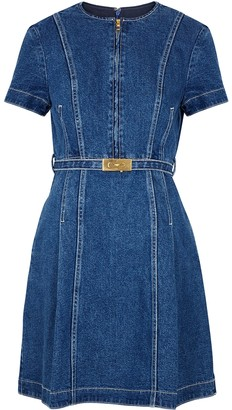 Tory Burch Nadia blue denim mini dress