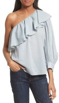 Apiece Apart Women's Bergamot Ruffle One-Shoulder Top