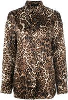 R 13 leopard print shirt - women - Silk - XS