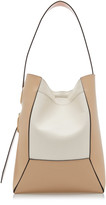 Marni Nemo Color-Block Leather-Trimmed Canvas Shoulder Bag
