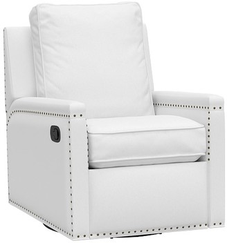 Pottery Barn Kids Tyler Square Arm Swivel Glider & Recliner, In-Stock