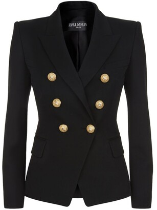 Balmain Wool Double-Breasted Blazer
