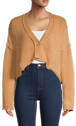 Free People Tera Cropped Cardigan Sweater