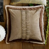Suede Origami Cut Pillow Cover, Beige