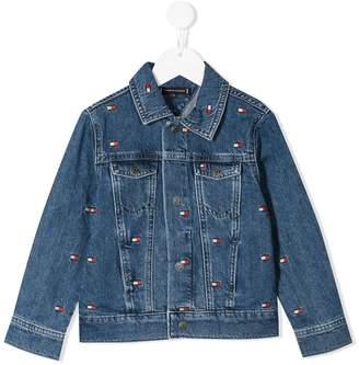 Tommy Hilfiger Junior embroidered logo denim jacket