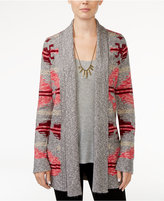 Lucky Brand Intarsia Open-Front Cardigan