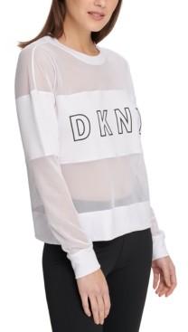 DKNY Sport Mesh-Blocked Top