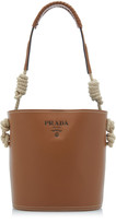 Prada Cord-Trimmed Leather Top Handle Bag