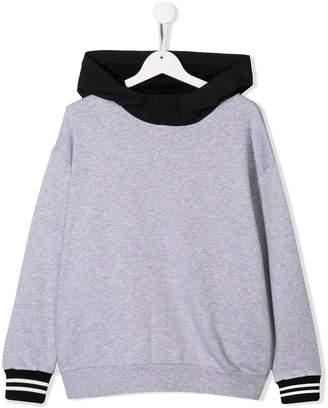 Fendi TEEN logo print hoodie