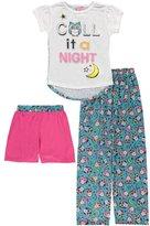 """Delia's Big Girls' """"Night Owl"""" 3-Piece Pajamas - , 7-8"""