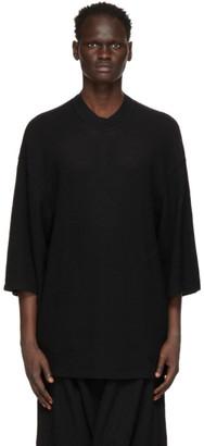 Julius Black Wool Pullover Sweater