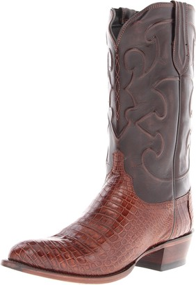Lucchese Bootmaker Lucchese Classics Men's Charles-Sien Bly Croc/dkbrn Derby Cal Riding Boot