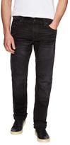 True Religion Cotton Slim Straight Moto Jeans