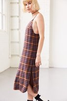 Silence & Noise Silence + Noise Paige Plaid Midi Slip Dress